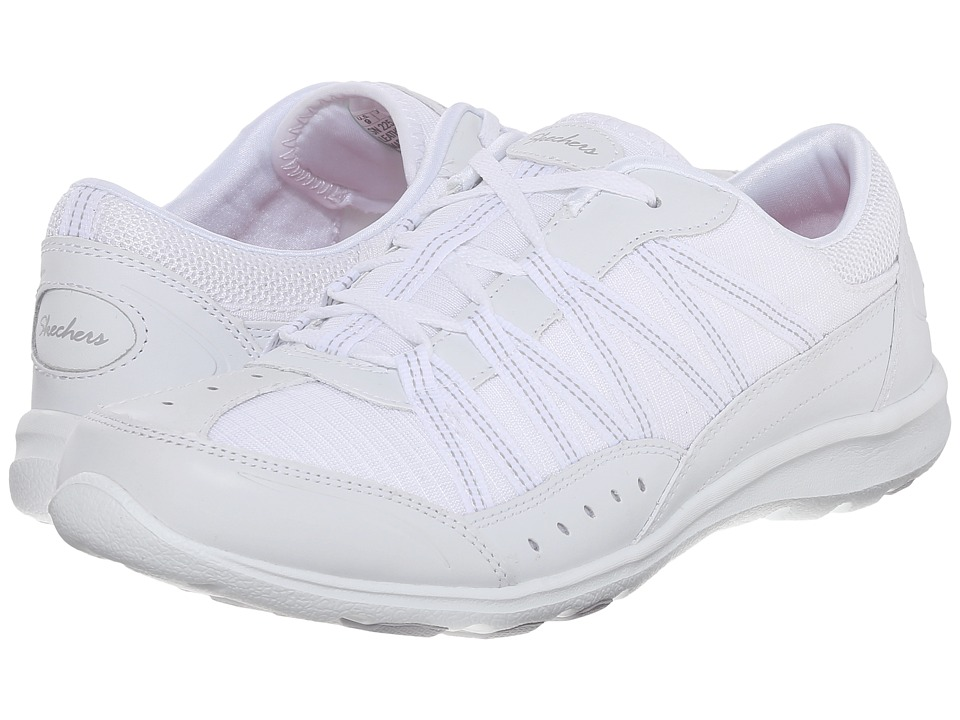 SKECHERS - Active Dreamchaser - Skylark (White) Women's Slip on Shoes