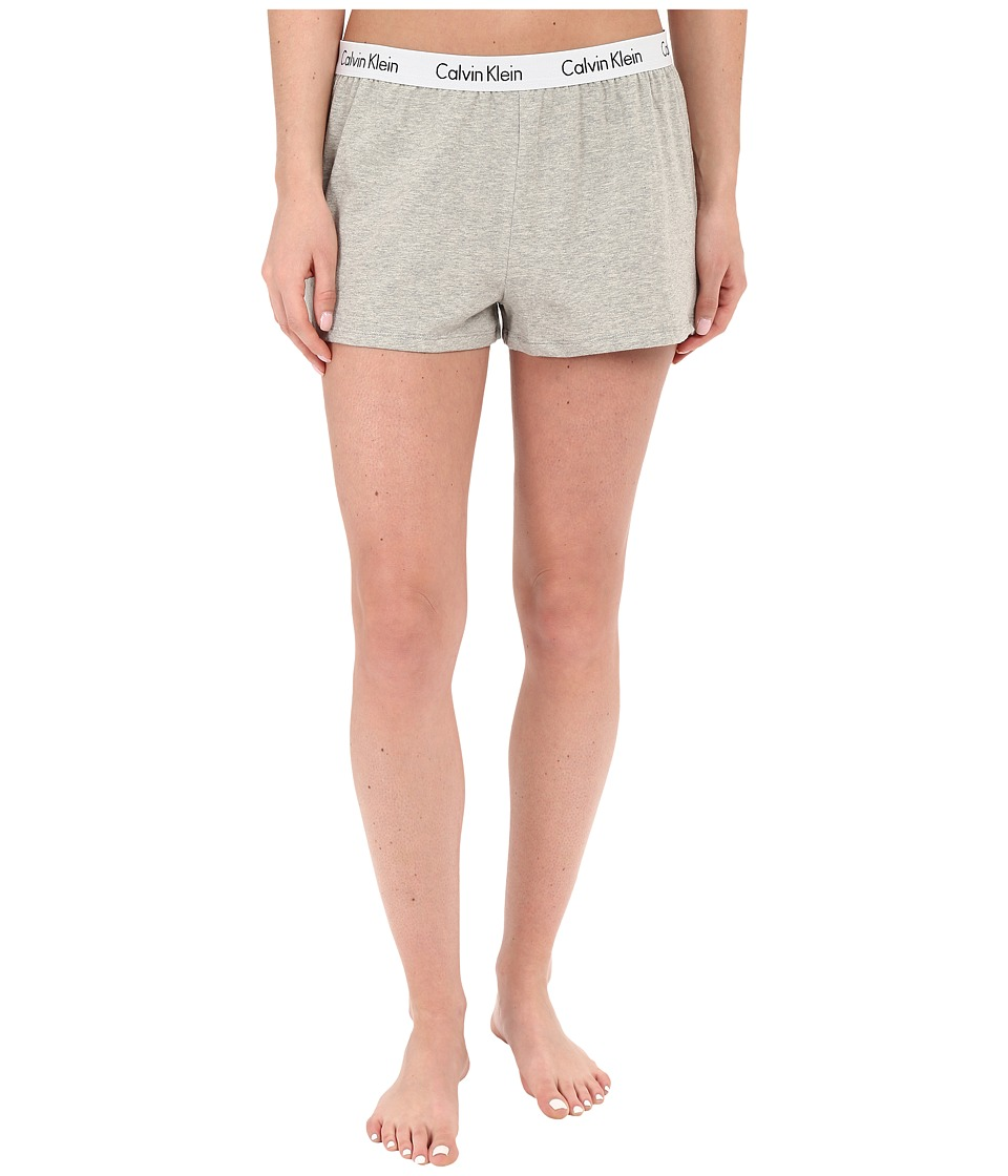Calvin Klein Underwear - Shift Knit Shorts (Grey Heather) Women's Pajama