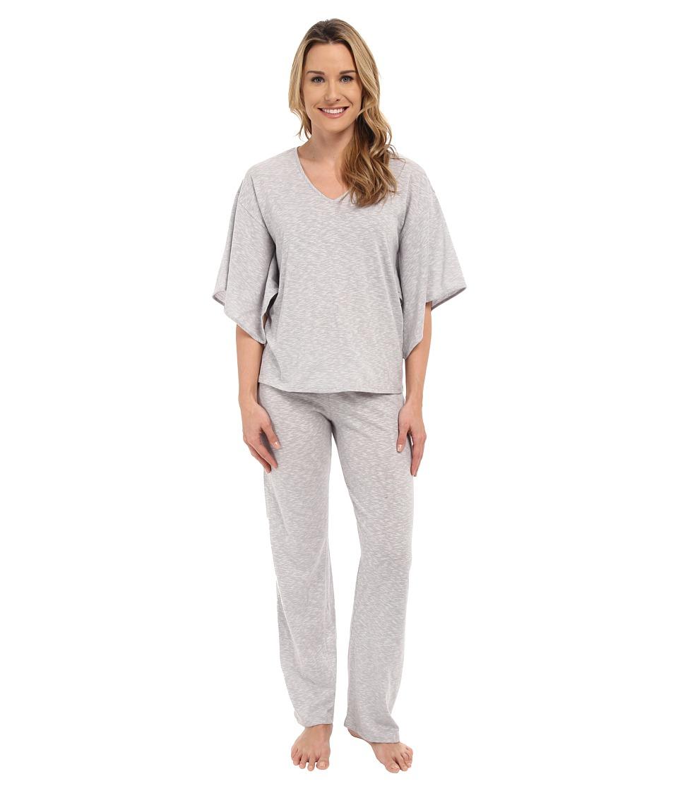 N by Natori - Slub Jersey PJ (Silver) Women's Pajama Sets