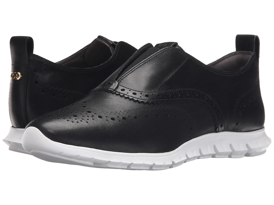 Cole Haan - Zerogrand Slip-On Wing (Black/Optic White) Women's Slip on Shoes
