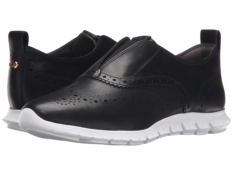 Cole Haan - Zerogrand Slip-On Wing (Black/Optic White) Women's Slip on Shoes