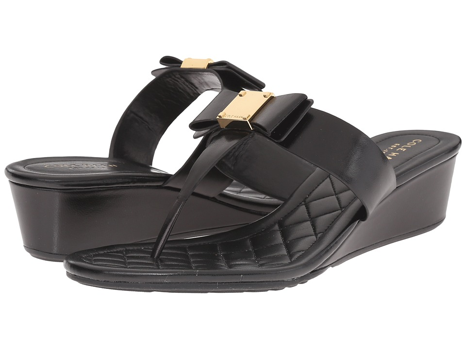 Cole Haan - Tali Bow Sandal 40 (Black) Women's Sandals
