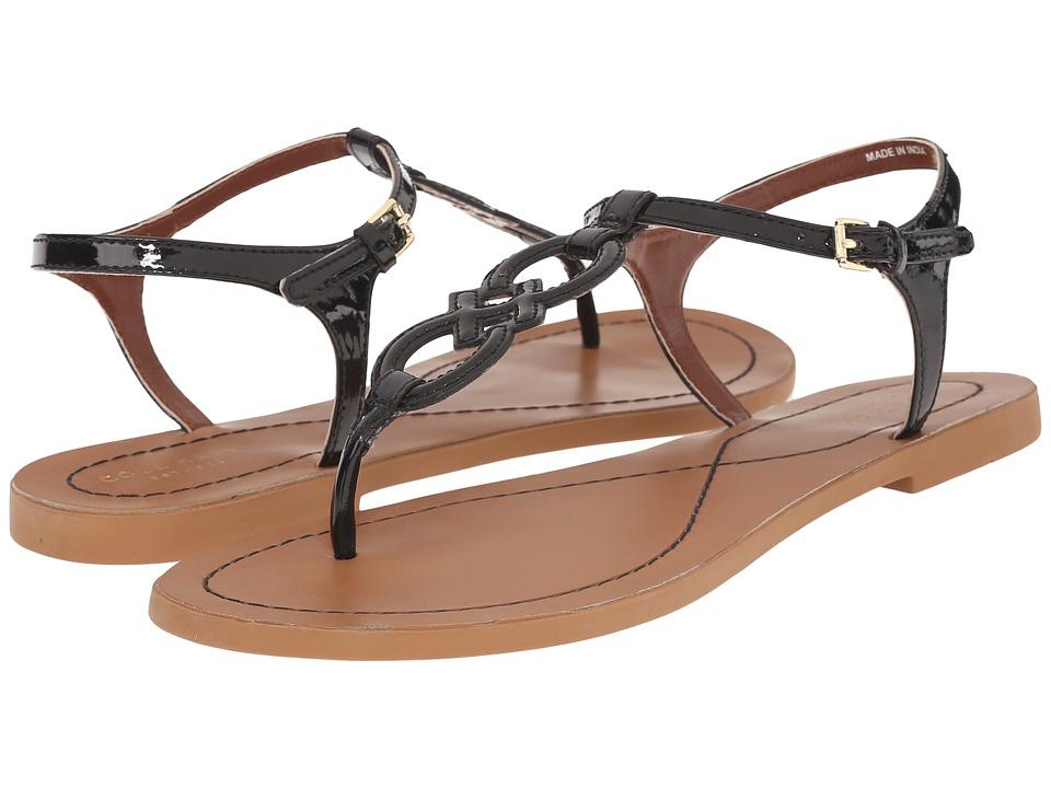 Cole Haan - Iris Sandal (Black Patent/Ecru) Women's Sandals