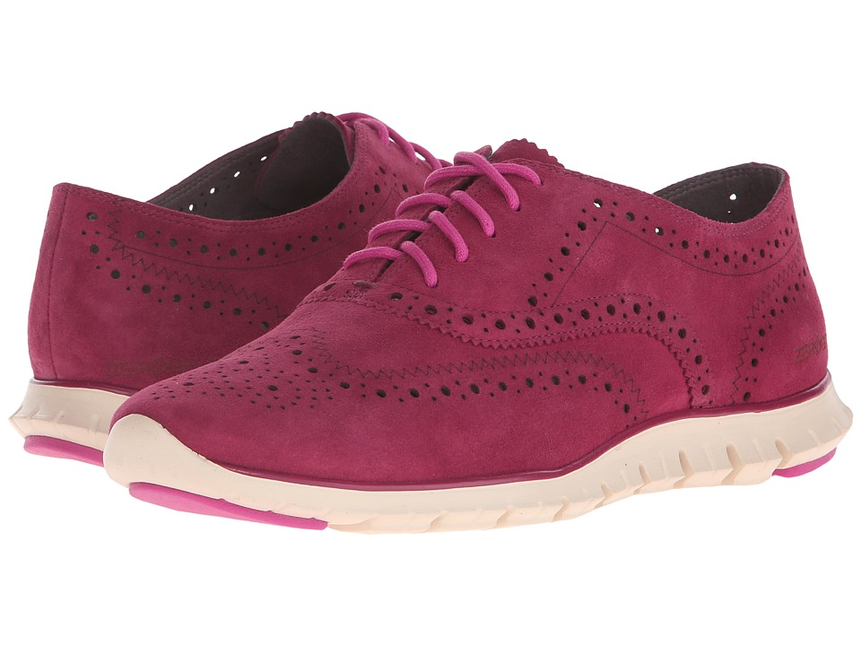 Cole Haan - Zerogrand Wing Oxford (Beet Red Suede/Ivory) Women's Shoes