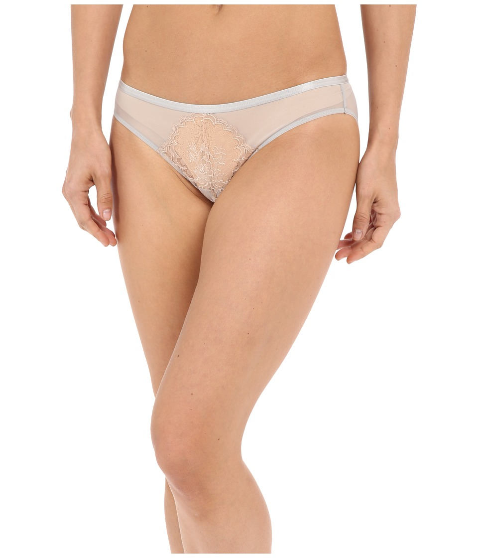 Natori - Chantilly Lace Bikini (Silver/Nude) Women's Underwear