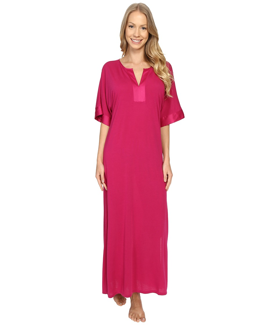 N by Natori - Congo Short Sleeve Gown (Hibiscus) Women's Pajama