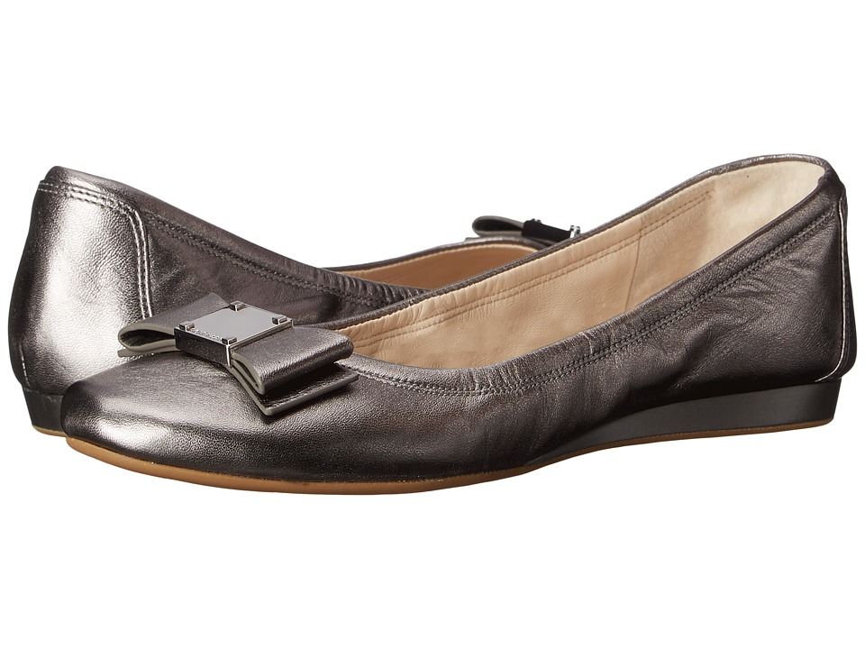Cole Haan - Tali Bow Ballet (Dark Silver) Women's Slip on Shoes