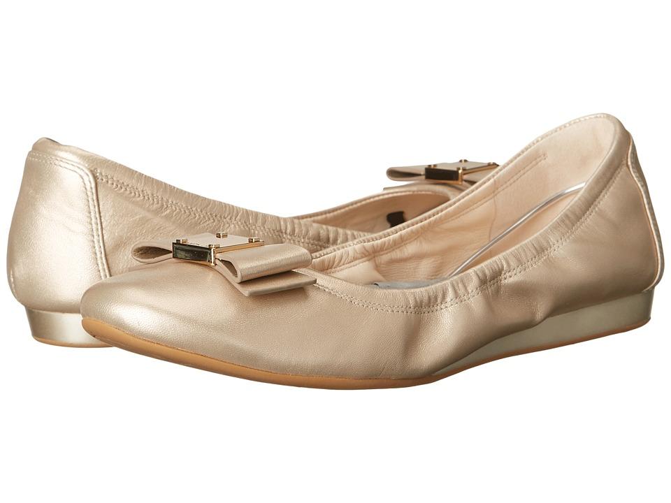 Cole Haan - Tali Bow Ballet (Soft Gold) Women