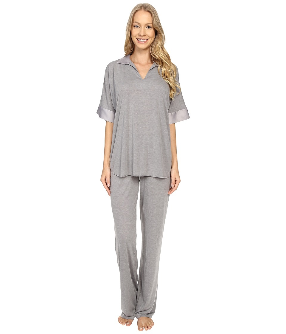 N by Natori - N Natori Tunic PJ (Light Grey) Women's Pajama Sets