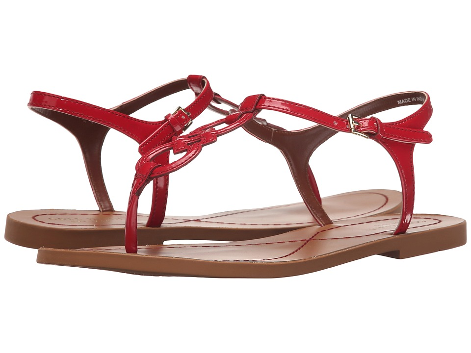 Cole Haan - Iris Sandal (Tango Red Patent/Ecru) Women's Sandals