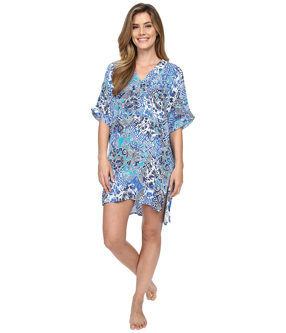 N by Natori - Mosaic Meadow Sleepshirt (Blue) Women's Pajama