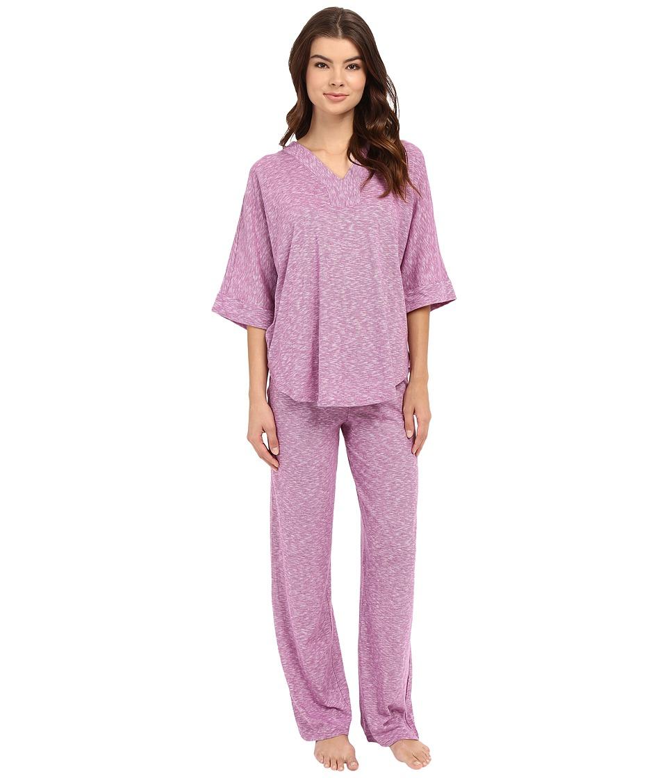 N by Natori - Space Dye Lounge PJ (Orchid) Women's Pajama Sets