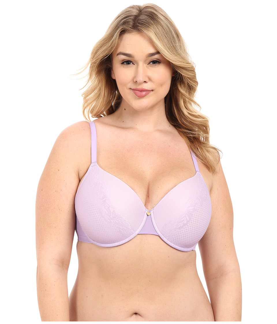 Natori - Smooth Scroll Full Figure Contour Underwire Bra 736095 (Viola/Dusty Rose) Women