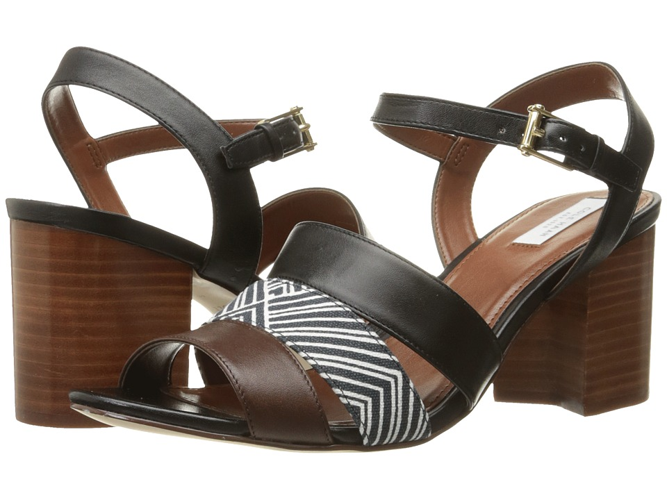 Cole Haan - Anisa High Sandal (Black Leather/Optic White/Navy Ink Print/Chestnut Leather) Women's Sandals