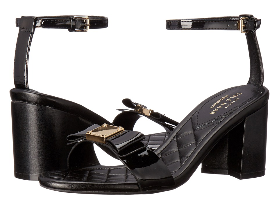 Cole Haan - Tali Bow High Sandal (Black Patent) Women's Sandals
