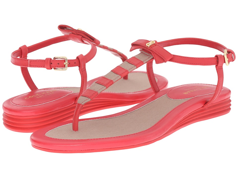Cole Haan - Analyn Sandal (True Red/Cremini Canvas) Women's Sandals