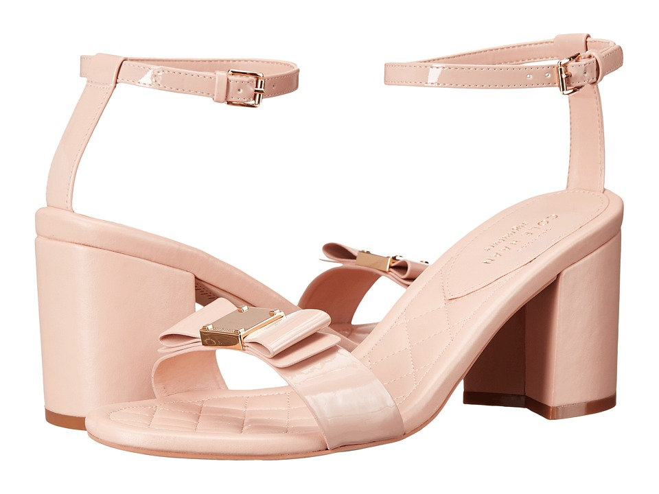 Cole Haan - Tali Bow High Sandal (Nude Patent) Women's Sandals