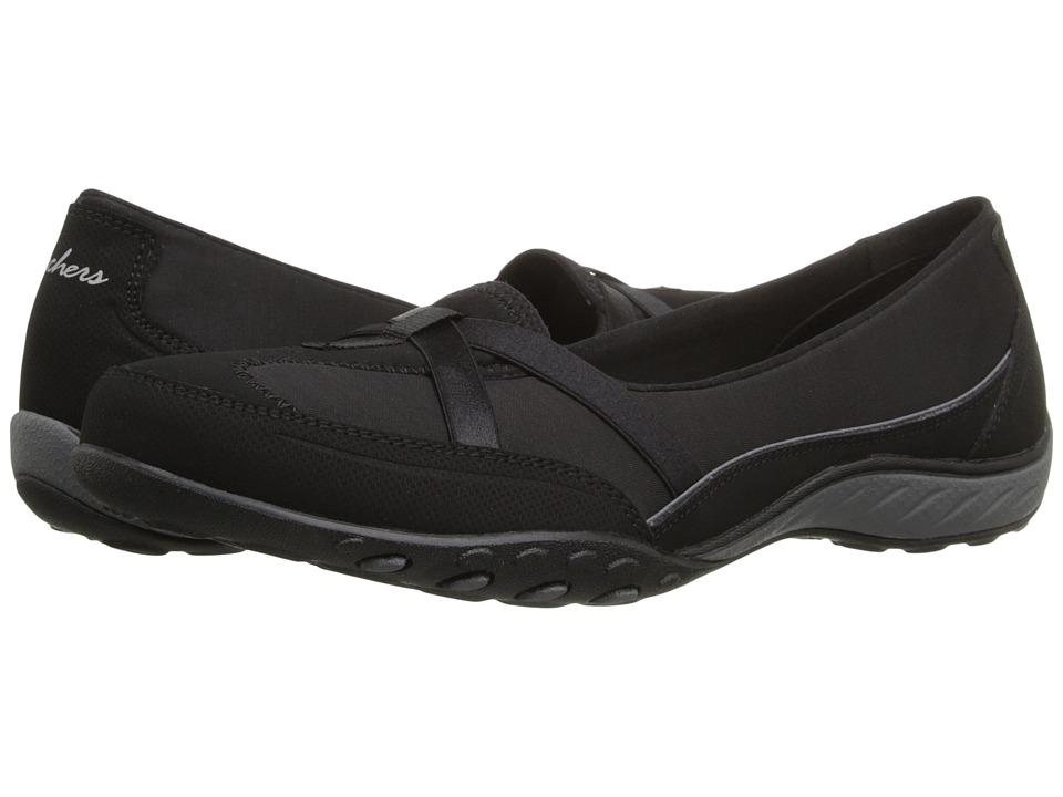 SKECHERS - Active Breathe Easy - Heathered (Black) Women's Slip on Shoes