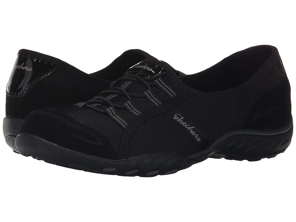 SKECHERS - Active Breathe Easy - Allure (Black) Women's Slip on Shoes