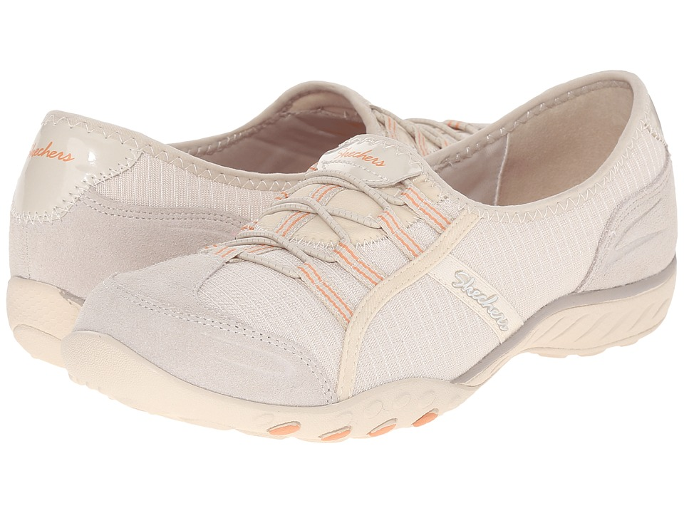 SKECHERS - Active Breathe Easy - Allure (Natural) Women's Slip on Shoes