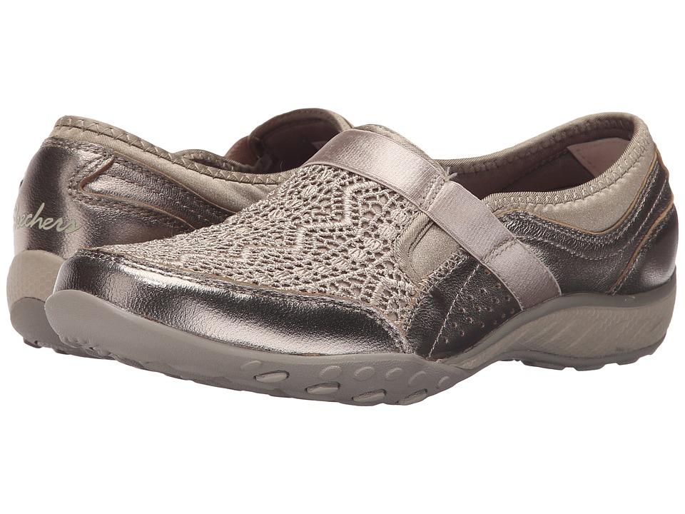 SKECHERS - Active Breathe Easy - Crochet (Champagne) Women's Slip on Shoes