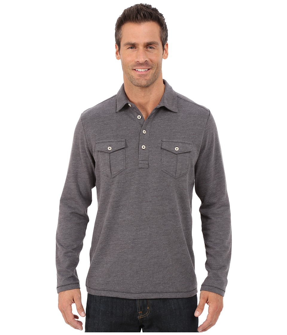 Tommy Bahama - Sedona Sands Polo (Forged Iron) Men's Long Sleeve Pullover