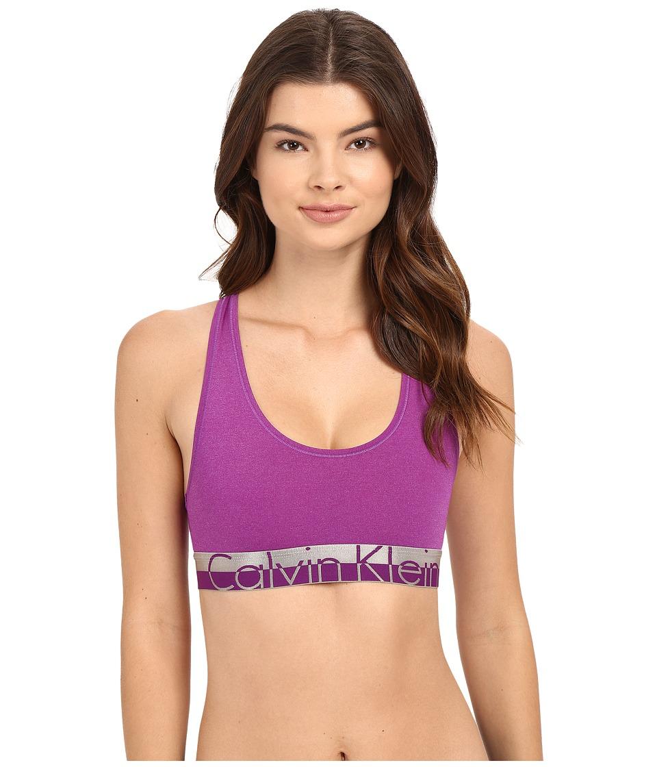 Calvin Klein Underwear - Magnetic Force Bralette (Bold Violet Heather) Women's Bra