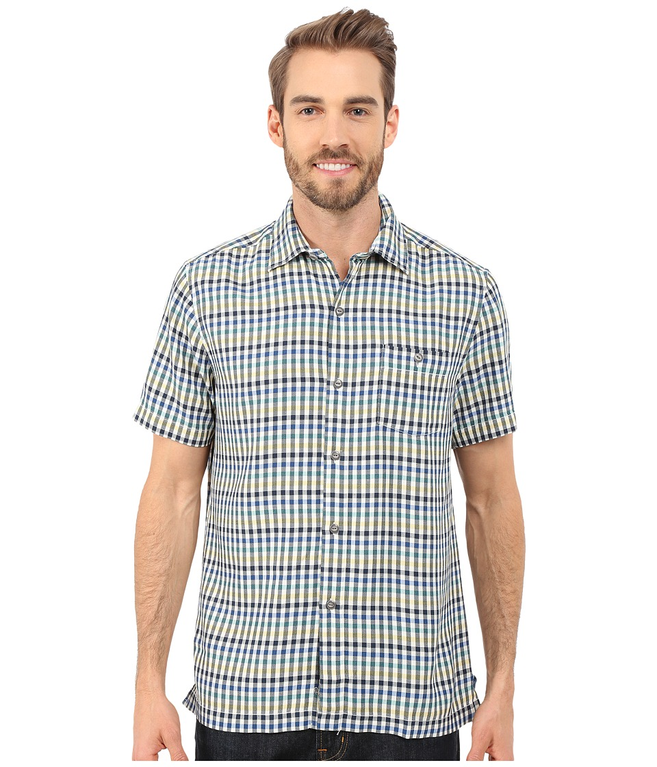 Tommy Bahama - G'Day Gingham Short Sleeve (Colonial Blue) Men's Clothing