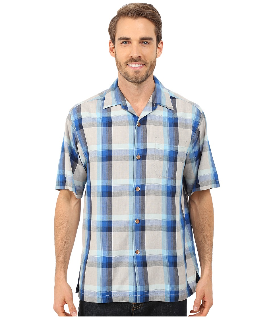 Tommy Bahama - Wallaby Plaid Short Sleeve (Colonial Blue) Men's Short Sleeve Button Up