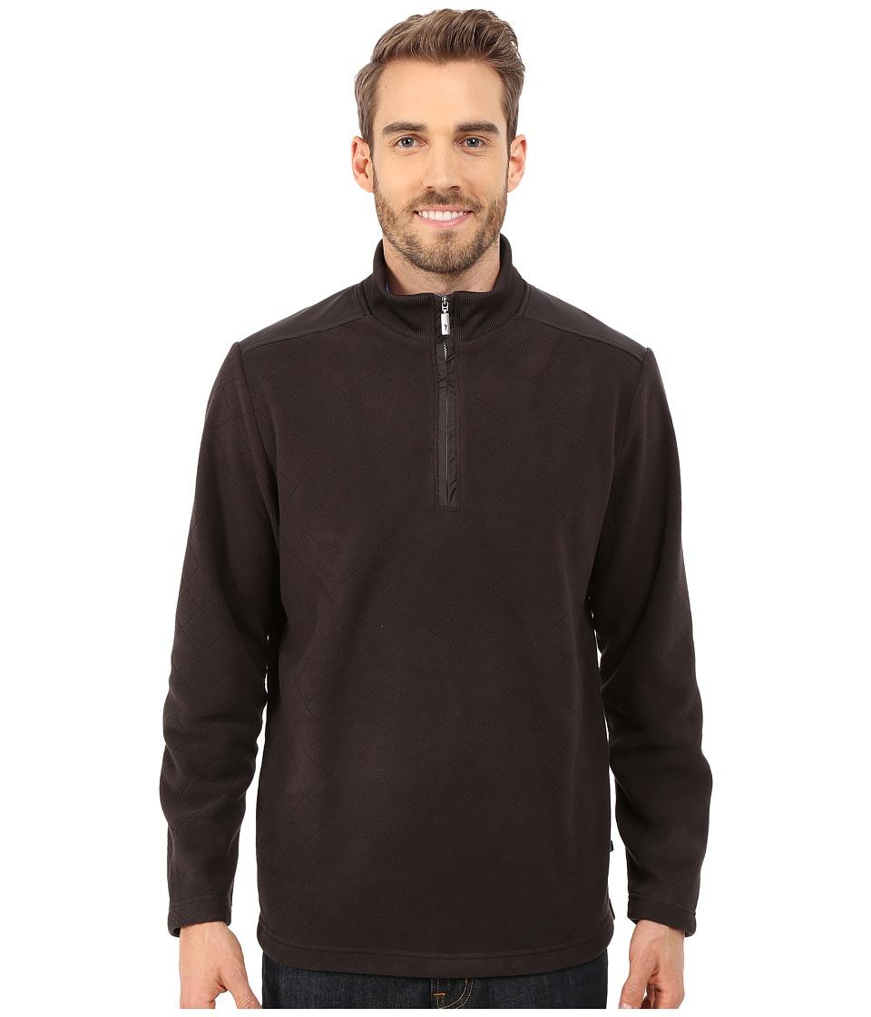 Tommy Bahama - Diamond Back Fleece 1/2 Zip (Black) Men's Fleece