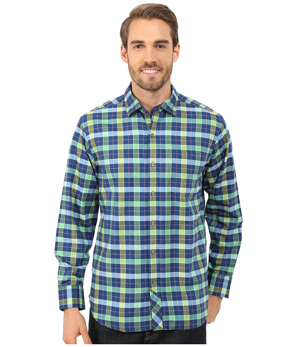 Tommy Bahama - Penshurst Plaid Long Sleeve (Colonial Blue) Men's Clothing