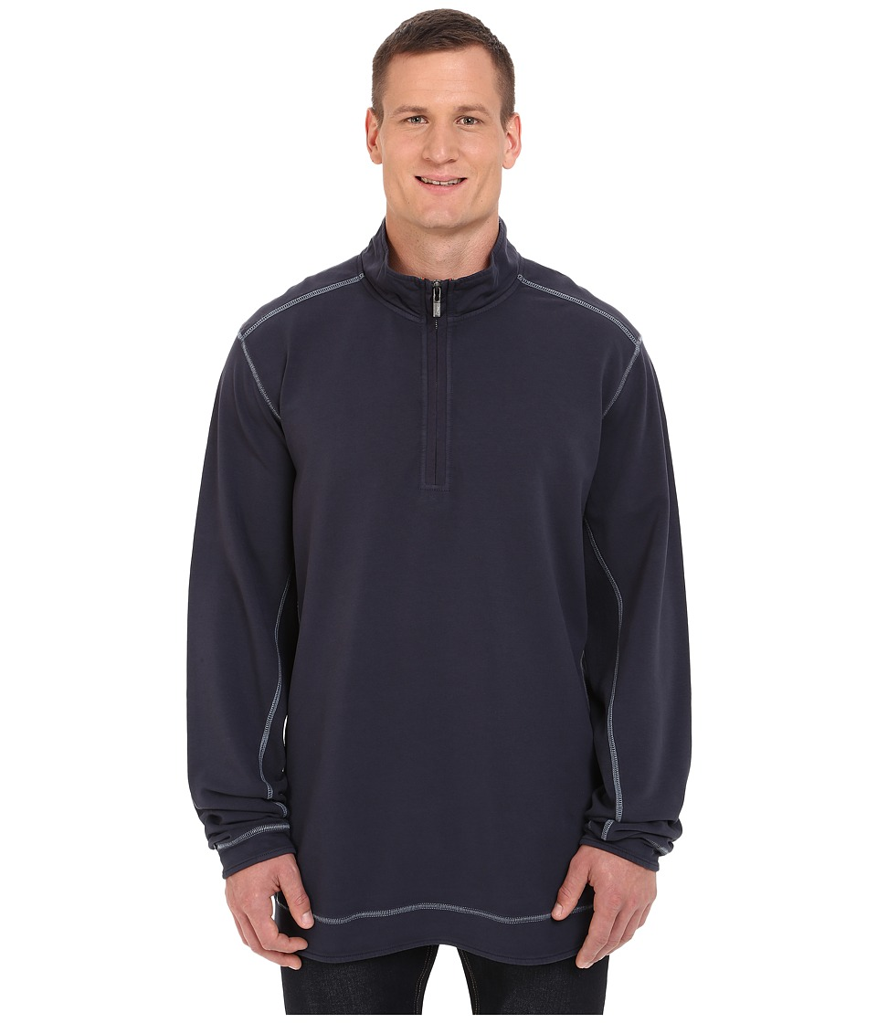 Tommy Bahama Big & Tall - Big Tall Ben and Terry 1/2 Zip (Nocturne) Men's Clothing