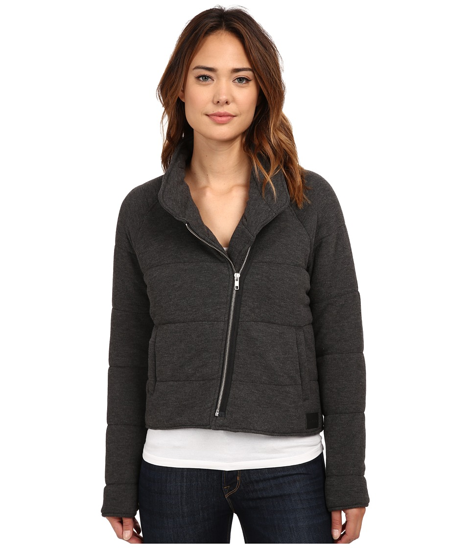 Obey - Sierra Quilted Wrap Jacket (Heather Black) Women's Coat
