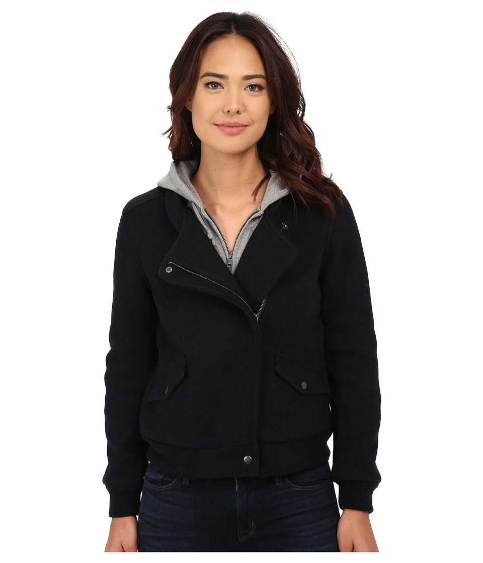 Obey - Germain Hooded Jacket (Dark Navy) Women's Coat