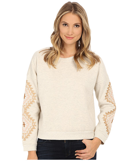 Obey - Lori Crew Neck Sweatshirt (Heather Natural) Women's Sweatshirt