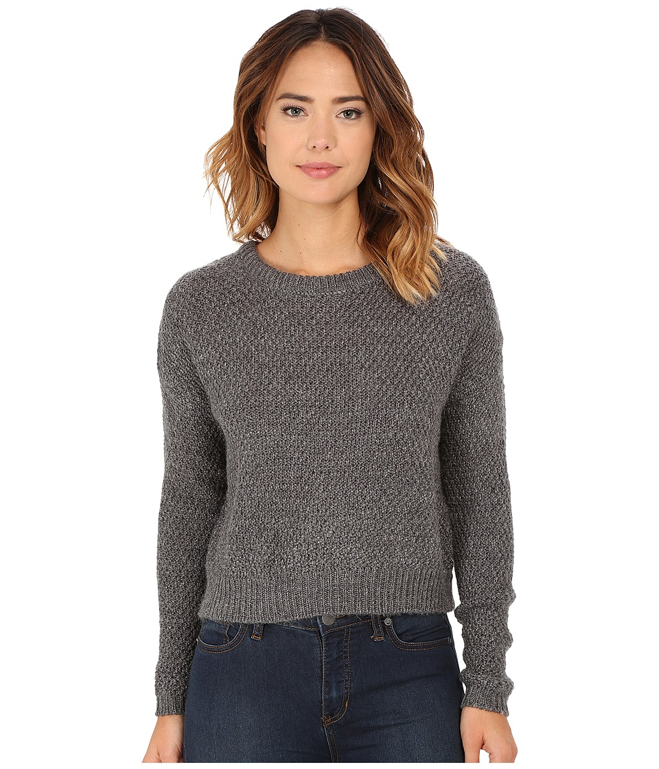 Obey - Bianca Crew Neck Sweater (Heather Grey) Women