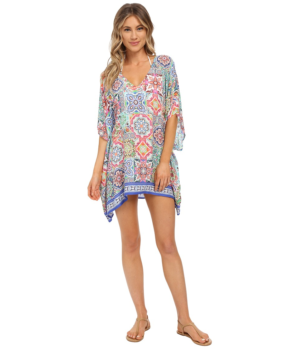Nanette Lepore - Greek Tiles Caftan Cover-Up (Multi) Women's Swimwear