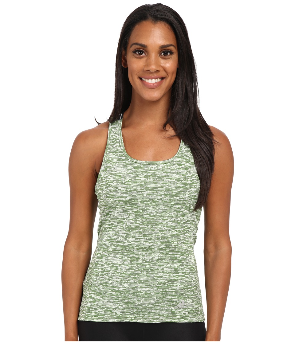 adidas - Supernova Slim Tank Top (Raw Lime/Matte Silver) Women's Sleeveless