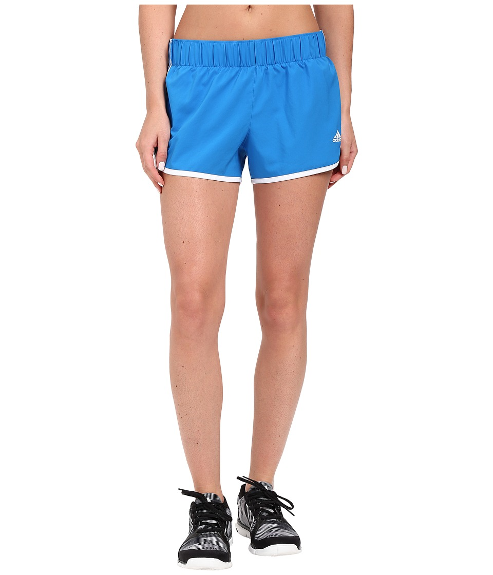 adidas - Woven 3-Stripes Shorts (Shock Blue/White) Women's Shorts