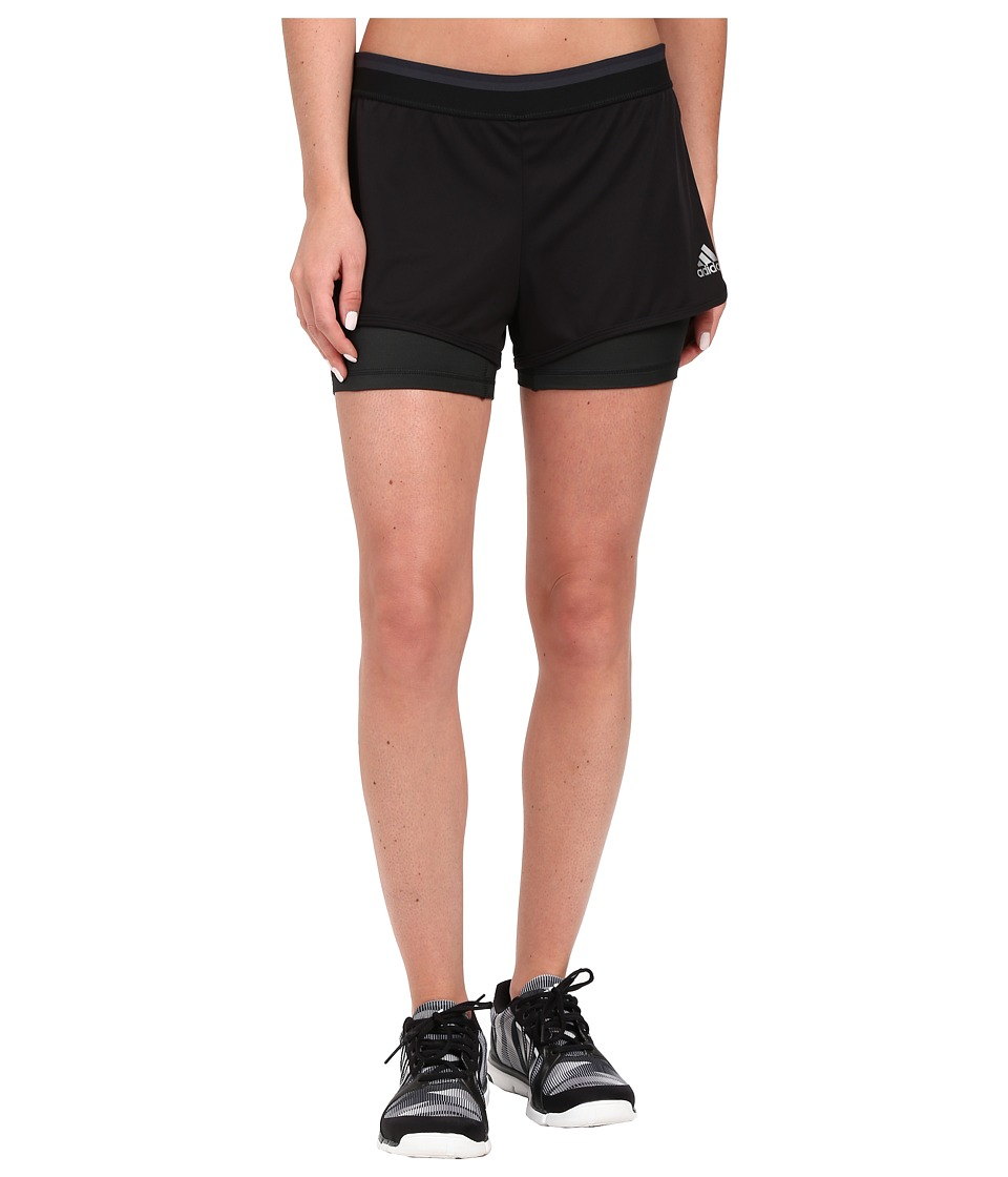 adidas - Climachill Shorts (Black M lange/Dark Grey) Women
