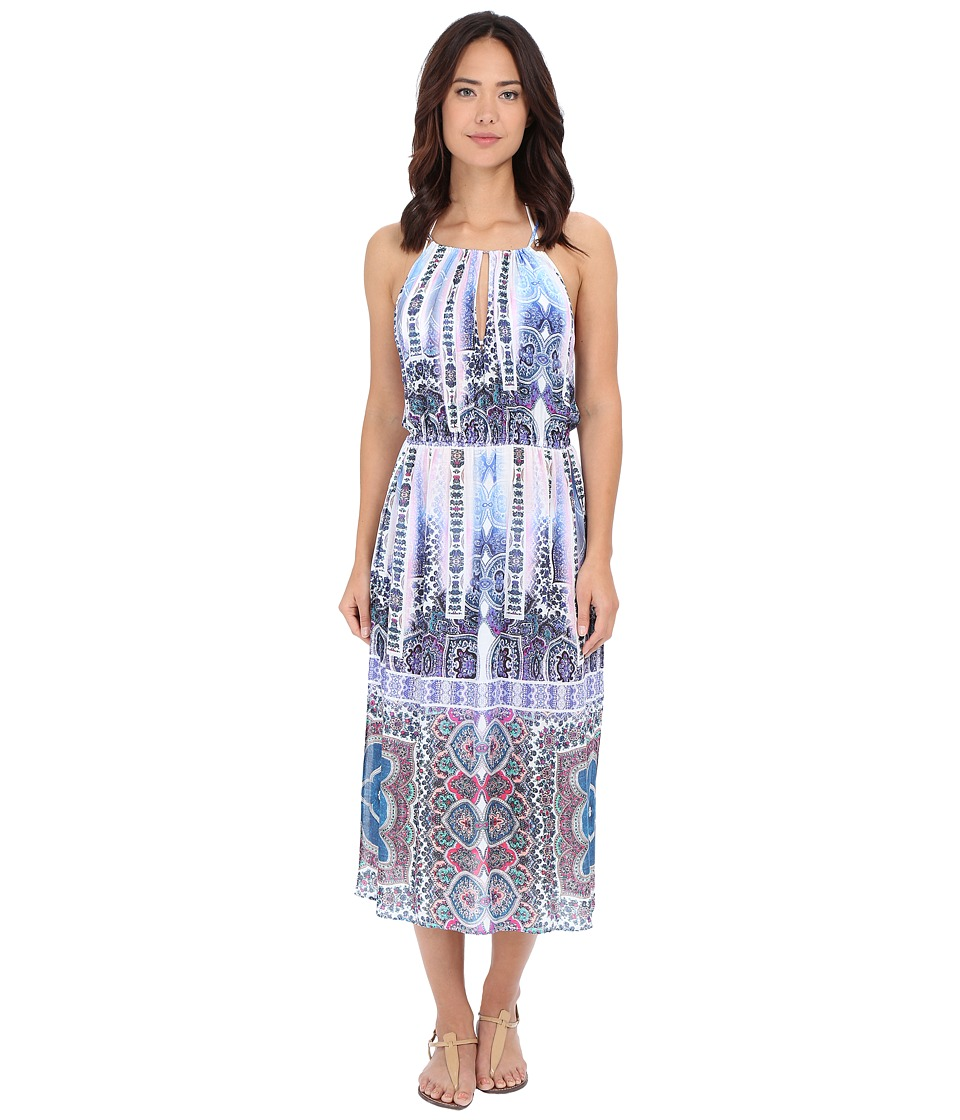 Nanette Lepore - Paros Paisley Midi Dress Cover-Up (Multi) Women's Swimwear