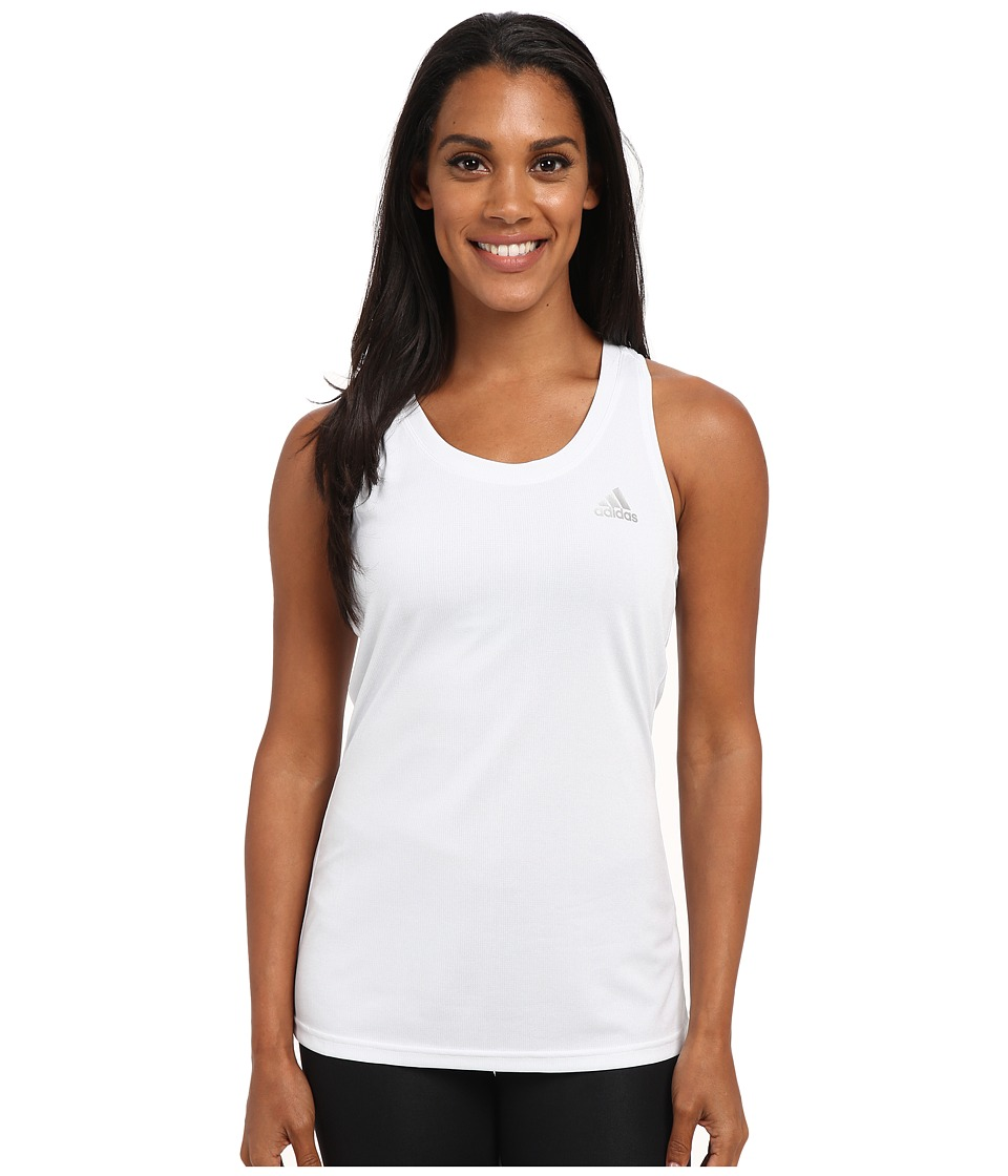 adidas - Climachill Tank Top (Chill White M lange) Women's Sleeveless