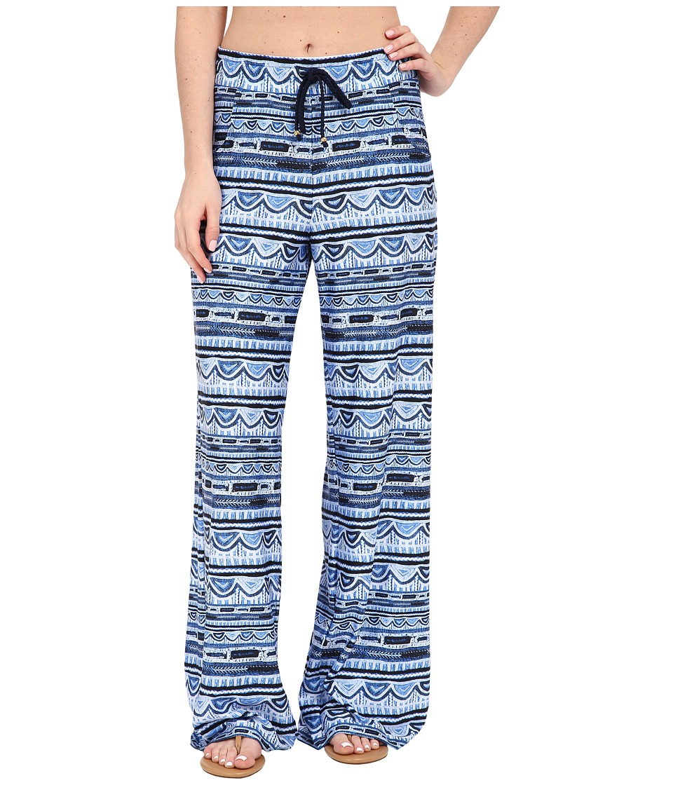 Nanette Lepore - Santorini Scallop Beach Pants Cover-Up (Indigo) Women's Swimwear
