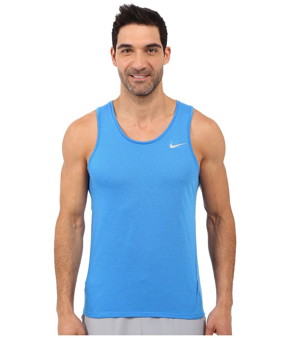 Nike - Dri-FIT Cool Tailwind Running Singlet (Light Photo Blue/Light Photo Blue/Reflective Silver) Men's Workout
