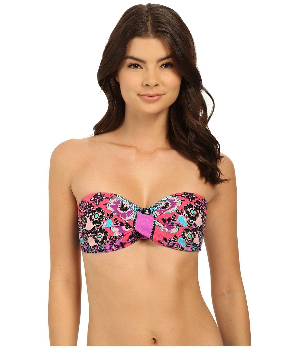 Nanette Lepore - Bali Batik Tease Top (Raspberry) Women's Swimwear
