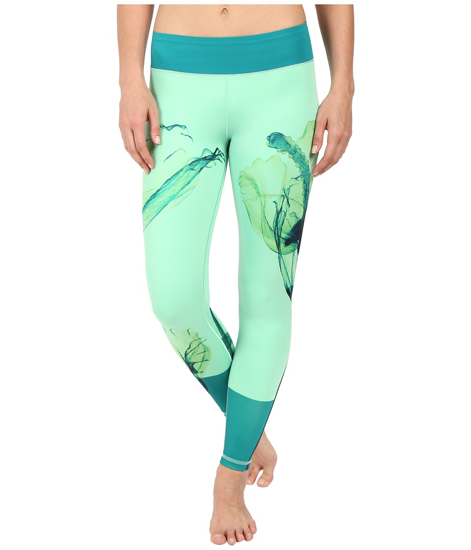 adidas - Workout Mid-Rise Long Tights - Around The World Prints (EQT Green Print Oceania) Women's Workout