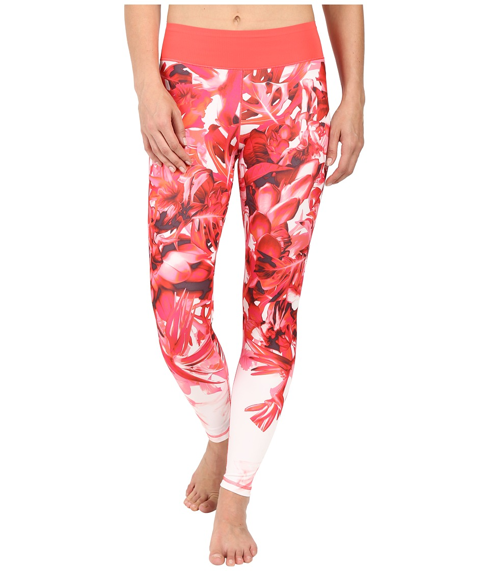 adidas Workout Mid-Rise Long Tights Around The World Prints (Shock Red Print America) Women