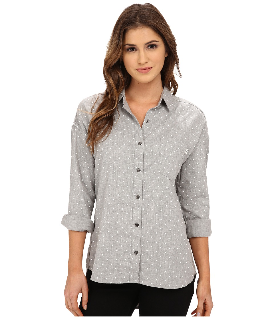 Obey - Parker Lake Button Down (Heather Grey Multi) Women's Long Sleeve Button Up