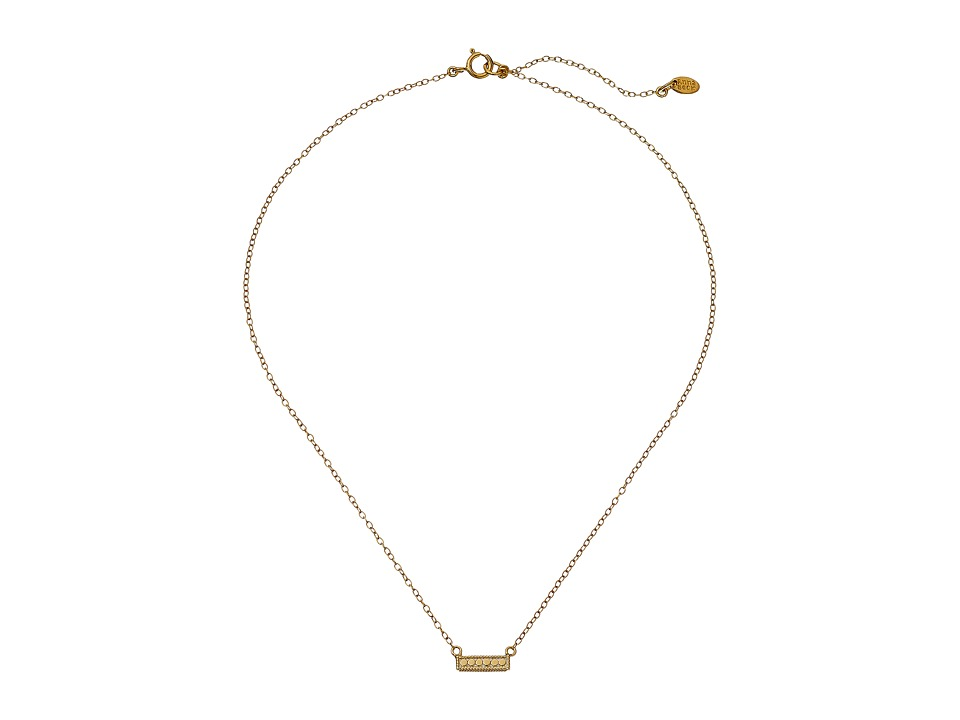 Anna Beck - Double Sided Horizon Bar Necklace (Sterling Silver/Gold Vermeil) Necklace