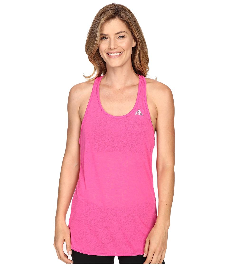 adidas - Fab Tank Top - Terazzo Burnout (Shock Pink/Matte Silver) Women's Sleeveless